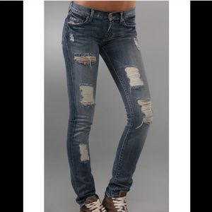 NEW 7 For All Mankind Roxanne Skinny Jeans 32